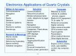 electronics applications of quartz crystals