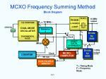 mcxo frequency summing method