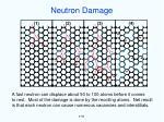 neutron damage