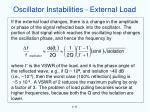 oscillator instabilities external load