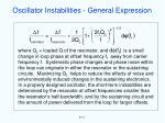 oscillator instabilities general expression