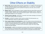 other effects on stability