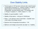 oven stability limits