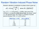 random vibration induced phase noise