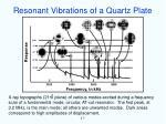 resonant vibrations of a quartz plate