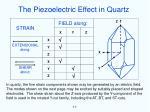 the piezoelectric effect in quartz