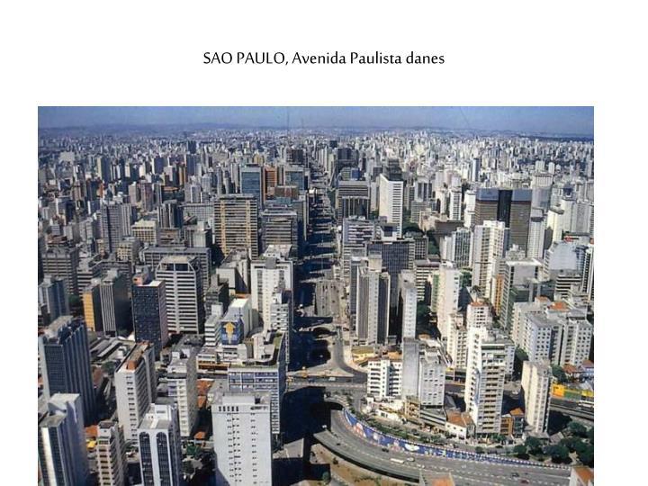 SAO PAULO, Avenida Paulista danes