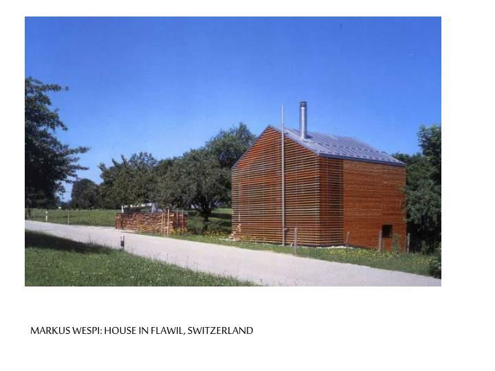 MARKUS WESPI: HOUSE IN FLAWIL, SWITZERLAND
