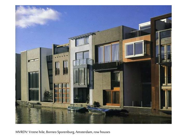 MVRDV: Vrstne hiše, Borneo Sporenburg, Amsterdam, row houses