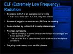 elf extremely low frequency radiation