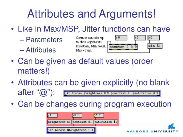 Attributes and Arguments!