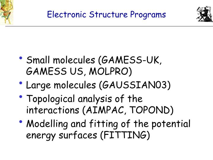 Electronic Structure Programs