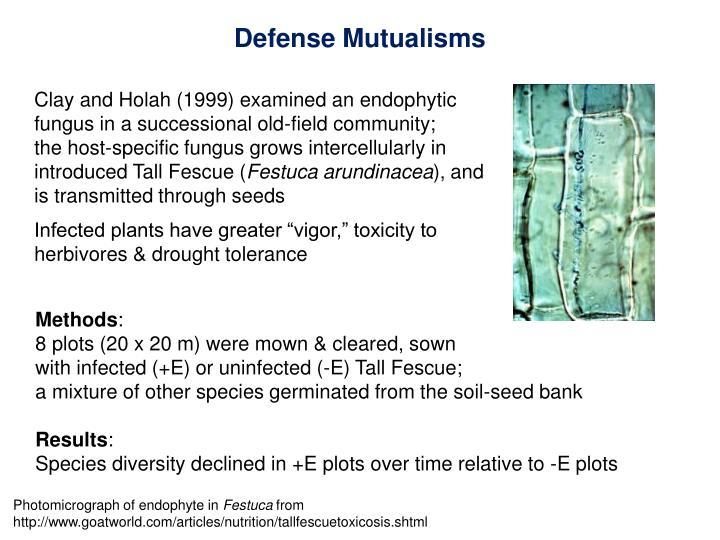 Defense Mutualisms