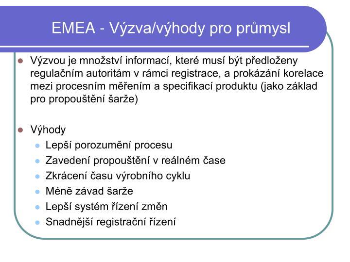 EMEA - Výzva/výhody pro průmysl