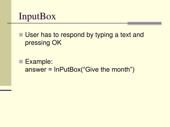 InputBox