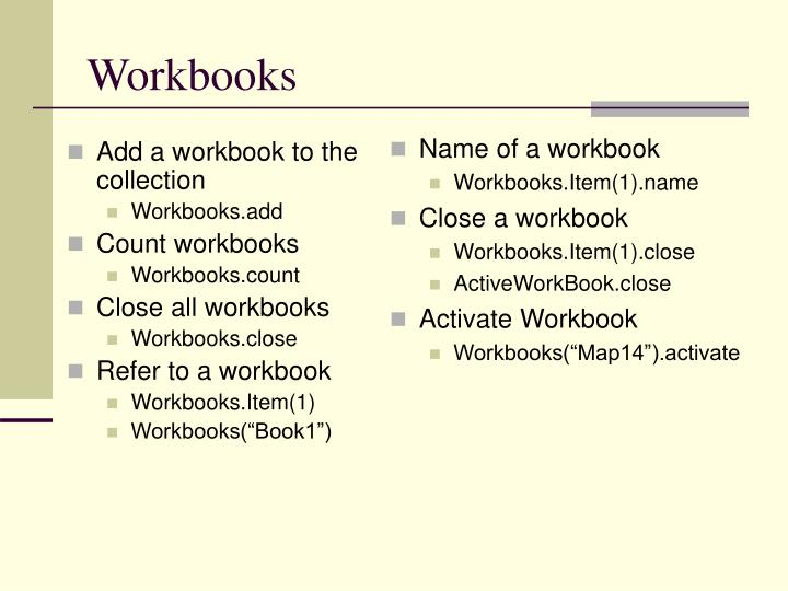 Add a workbook to the collection