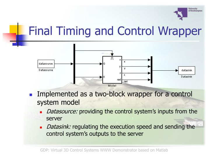 Final Timing and Control Wrapper