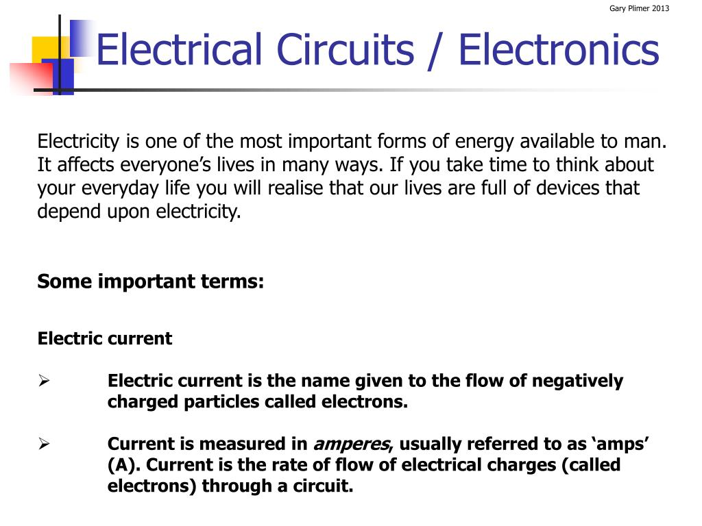Ppt Electrical Circuits Electronics Powerpoint Presentation Id Electric Circuit N