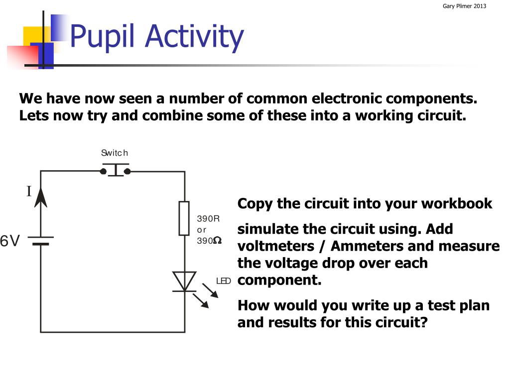 Let39s Analyze A Simple Series Circuit Determining The Voltage Drops