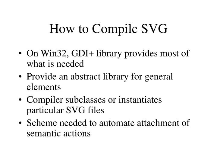 How to Compile SVG