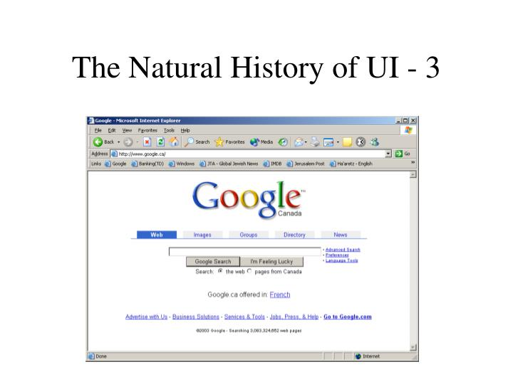 The Natural History of UI - 3