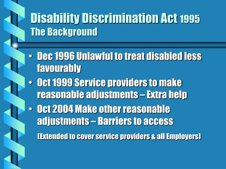 disability discrimation