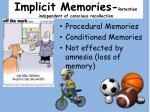 implicit memories retention independent of conscious recollection