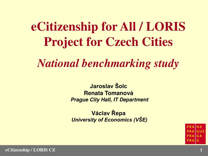 ECitizenship for All / LORIS Project for Czech Cities