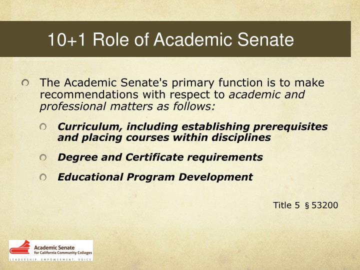 10+1 Role of Academic Senate