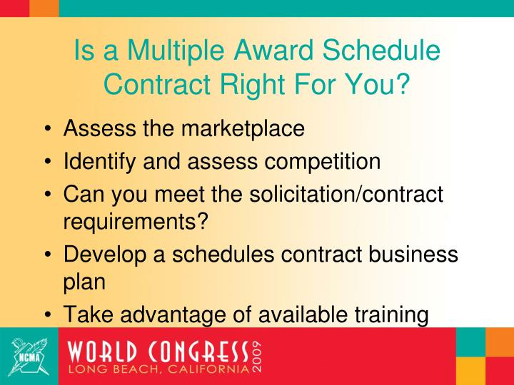 Is a Multiple Award Schedule Contract Right For You?