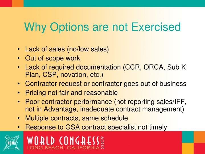 Why Options are not Exercised