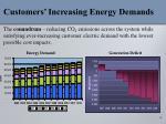 customers increasing energy demands
