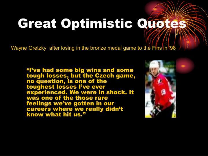 Great Optimistic Quotes