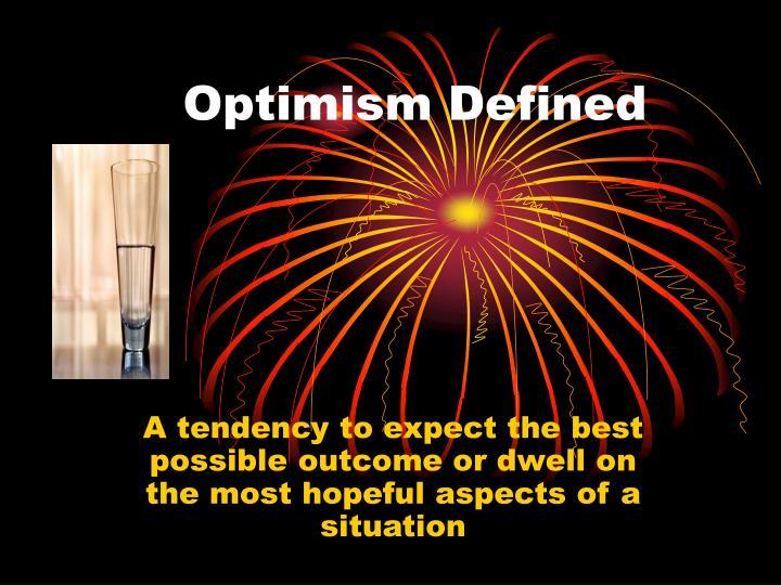 Optimism Defined