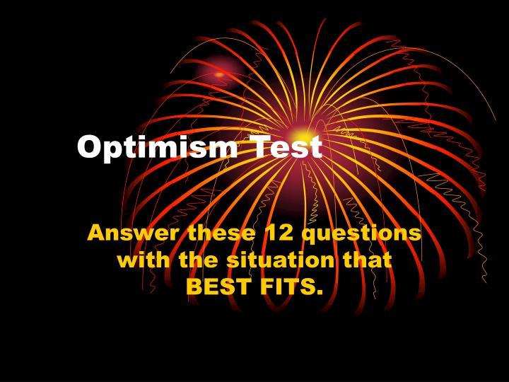 Optimism test