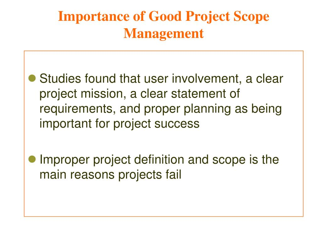PPT - Project Scope Management Mohammad A  Rob PowerPoint