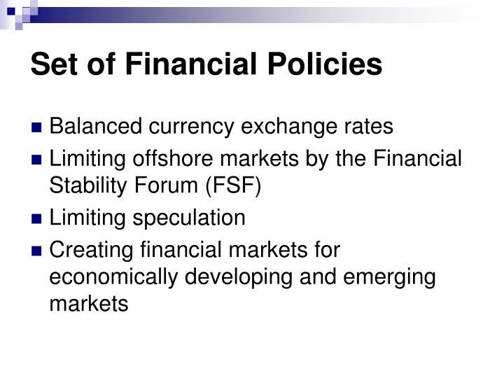 Set of Financial Policies