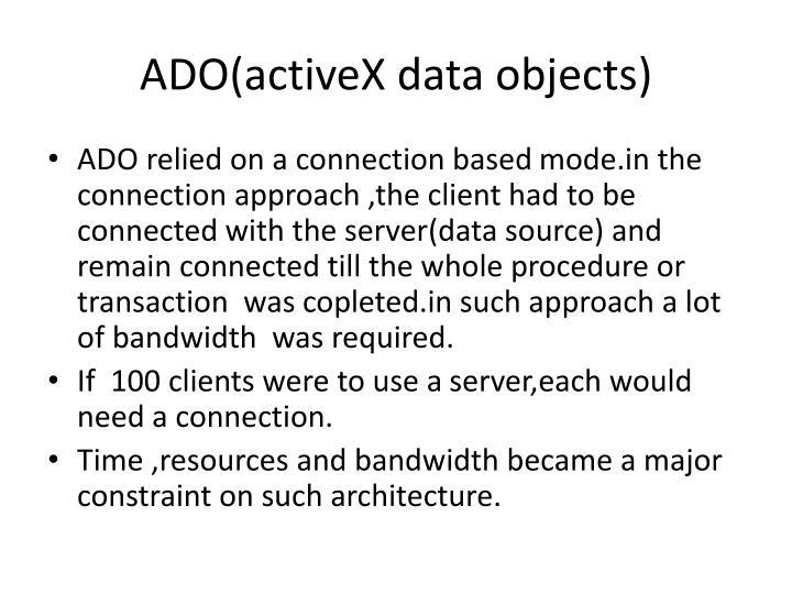 Ado activex data objects