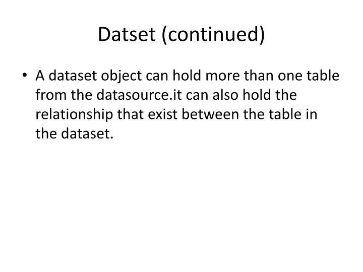 Datset