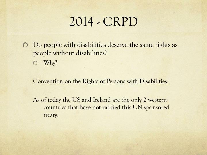 2014 - CRPD
