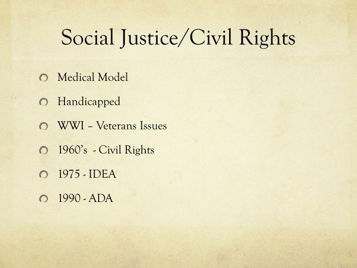 Social Justice/Civil Rights