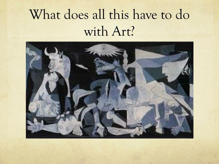 What does all this have to do with Art?