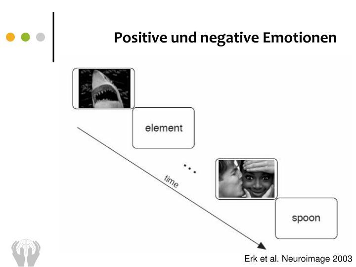 Positive und negative Emotionen