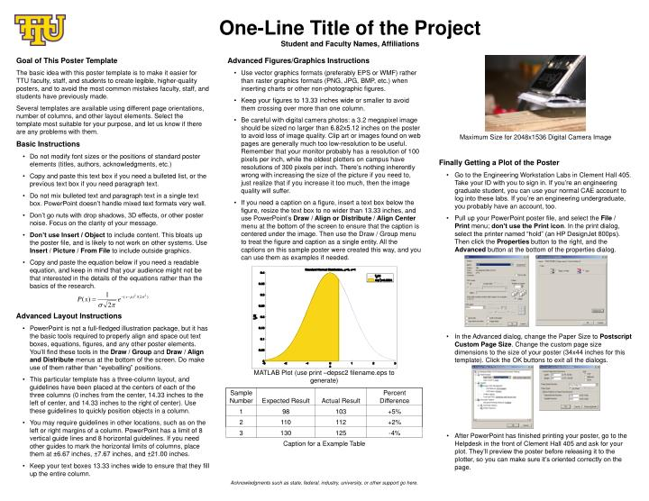 PPT - One-Line Title of the Project Student and Faculty