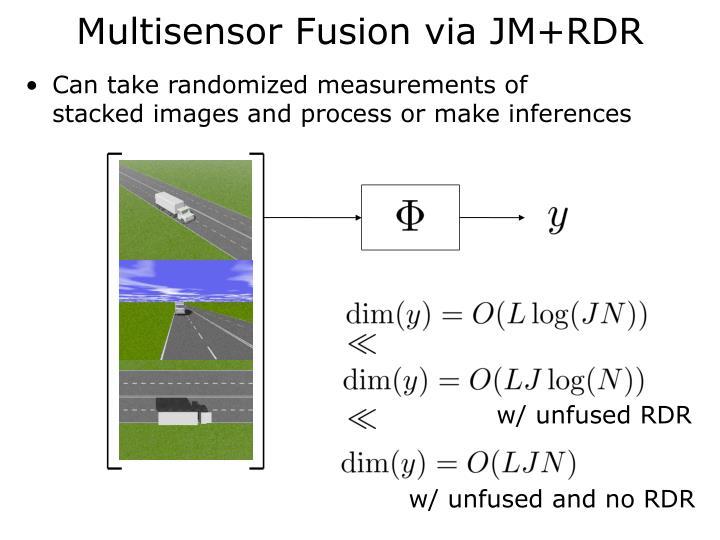 Multisensor Fusion via JM+RDR