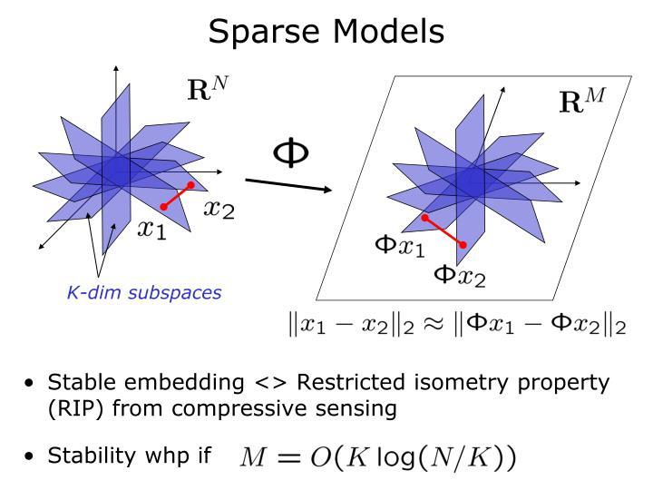 Sparse Models
