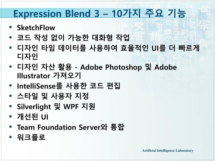 Expression Blend 3 – 10