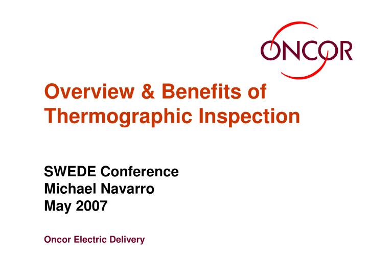 overview benefits of thermographic inspection n.