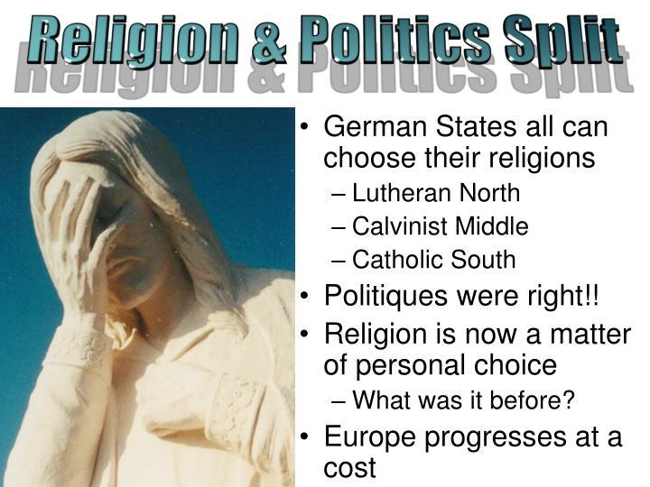 Religion & Politics Split