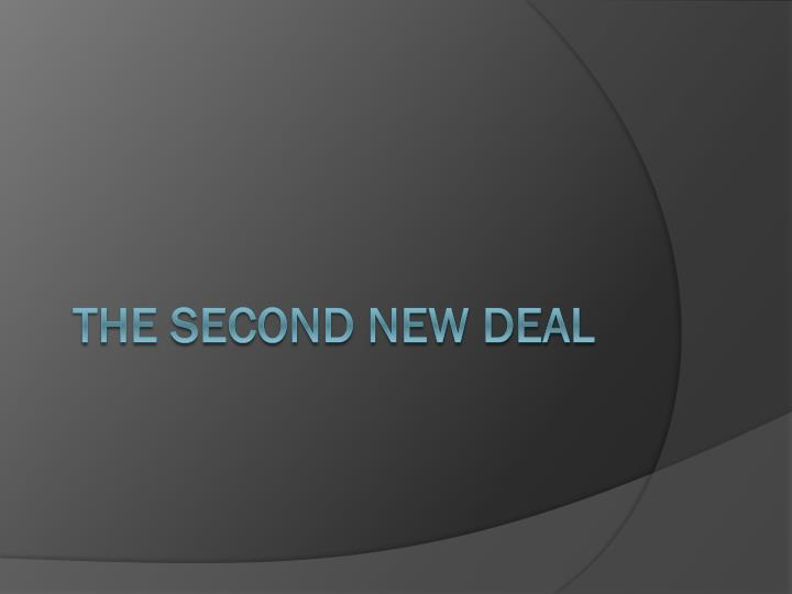 the second new deal n.